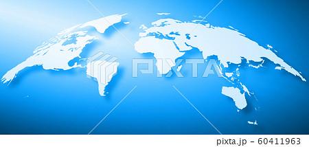 世界地図背景、ヨーロッパ中心 60411963