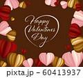 バレンタイン ハート 背景 60413937