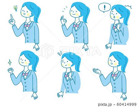 若い女性 表情 セット 60414999