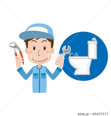 トイレ トラブル つまり 水漏れ 修理 業者 男性 60425577