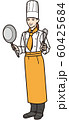 フライパンを持つ女性シェフ 60425684