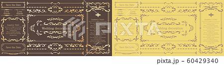 ウエディングデコレーション デザイン素材セット 60429340