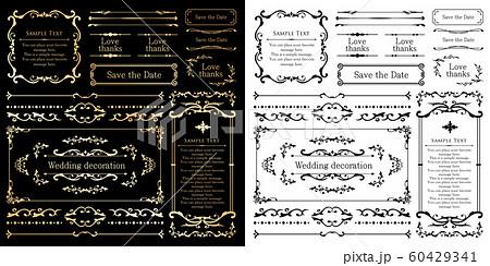 ウエディングデコレーション デザイン素材セット 60429341