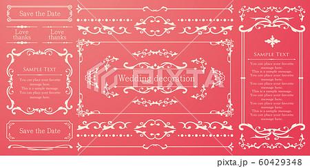 ウエディングデコレーション デザイン素材セット 60429348