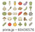 野菜・果物 フードの線画アイコンセット 60436576
