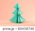 Pink abstract christmas tree on blue background 3d rendering 60438746