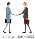 イラスト素材:ビジネスシーン、男性、握手 60444233