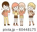 中学生 高校生 セット イラスト 全身 60448175