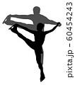 フィギュアスケートペアのシルエット 60454243
