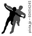 フィギュアスケートペアのシルエット 60454245