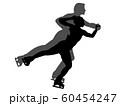 フィギュアスケートペアのシルエット 60454247