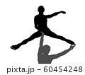 フィギュアスケートペアのシルエット 60454248