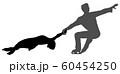 フィギュアスケートペアのシルエット 60454250