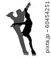 フィギュアスケートペアのシルエット 60454251