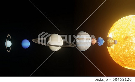 神秘的な宇宙惑星の整列 60455120