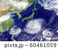 地球 日本付近に複数の台風 60461059