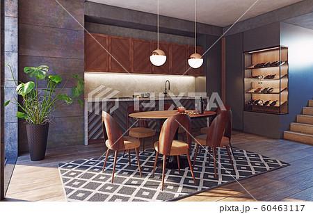 modern kitchen interior 60463117