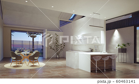 modern domestic kitchen interior. 60463141