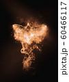 羽ばたく抽象的な火の鳥 60466117