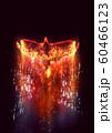 羽ばたく抽象的な火の鳥 60466123