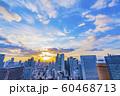 大阪 都市景観 夕景 西梅田方面   60468713