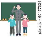 黒板と先生と生徒のイラスト 60477324