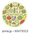 ポップな野菜のカード 60479323