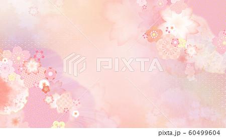 背景-和-和柄-和風-春-ピンク 60499604
