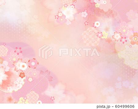 背景-和-和柄-和風-春-ピンク 60499606