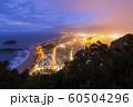ニュージーランド タウンランガ マウント・マウンガヌイ マウアオの丘 山頂からの夜景 60504296
