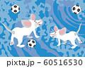 ねすみとサッカーのスポーツファンのための子年の年賀状素材 60516530