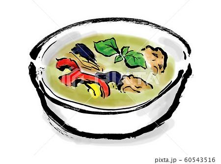 グリーンカレー、料理・食べ物、カレー、タイカレー、タイ料理、タイ、グリーン、緑、辛い、香辛料、 60543516