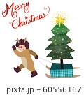 クリスマス そり お祝い 60556167