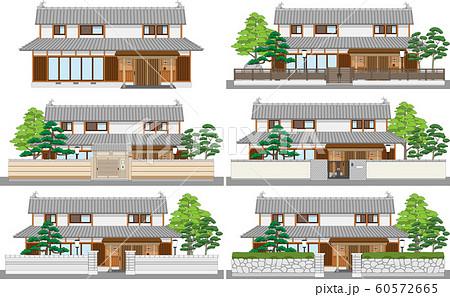 塀付日本家屋まとめ7縁あり 60572665