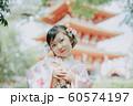 女の子 七五三 ポートレート 撮影協力:高幡不動尊  60574197