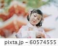 女の子 七五三 手水 撮影協力:高幡不動尊 60574555