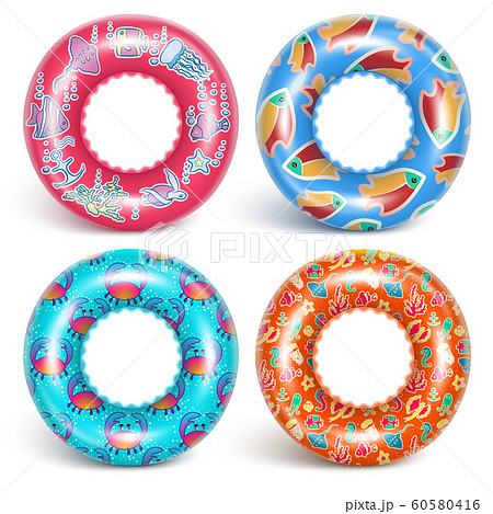 4 inflatable rings with a pattern 60580416