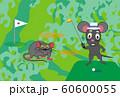ネズミとゴルフのスポーツファンのための子年の年賀状素材 60600055