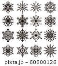 雪の結晶素材集 60600126