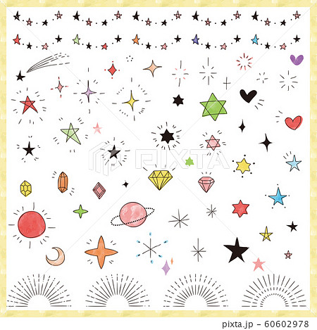 Hand drawn glitter icon set 60602978