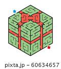ギフトボックスのアイソメトリック迷路 60634657
