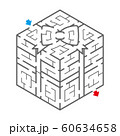 ギフトボックスのアイソメトリック迷路(塗り絵) 60634658