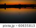 朝焼けの川と水鳥2 60635813