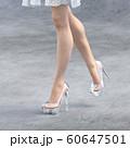 ガラスの靴を履いた美脚の女性 perming3DCG イラスト素材 60647501