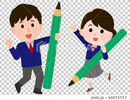 有鉛筆的男人,男人和女人,插圖 60655557
