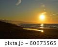 夕日 日本海 新潟県 60673565