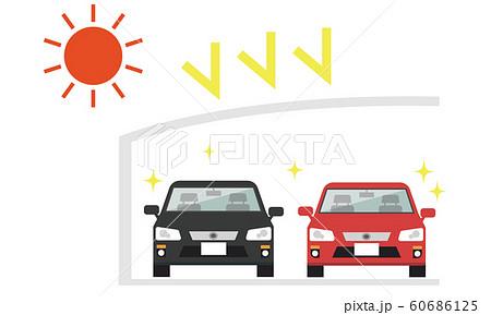 カーポート 車 紫外線 2台 60686125