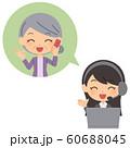 オペレーター女性 解決 年配女性 60688045
