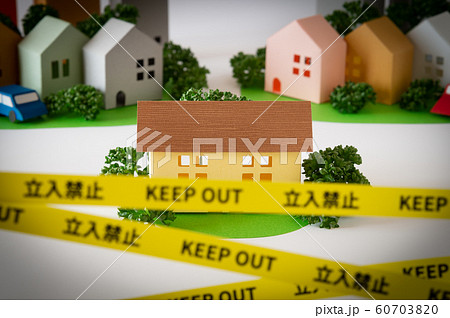 規制線 立入禁止 賃貸 事件現場 事故物件 境界線 犯罪 近所トラブル テープ KEEP OUT 60703820