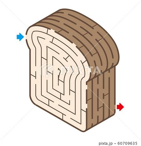 食パンのアイソメトリック迷路 60709635